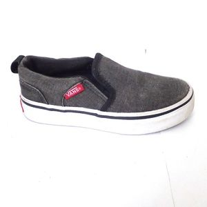 VANS Anthracite Gray Boat Shoes Canvas